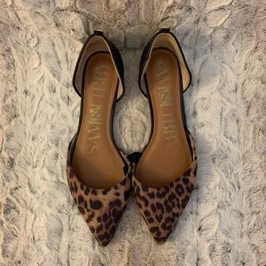 Sam & Libby Leopard flats - only worn once!